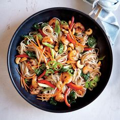 The more color, the better flavor, right? Chili-Garlic Shrimp and Noodle Stir-Fry makes a healthy and delicious weeknight dinner.