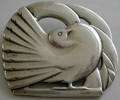 Vintage McClelland Barclay dove brooch
