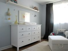 long shelf above dresser/changing table