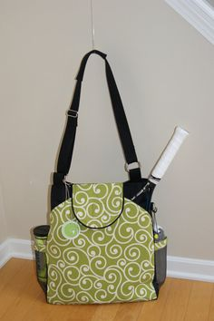 Large Tennis Bag with rounded pocket Made of Water by TranerTotes
