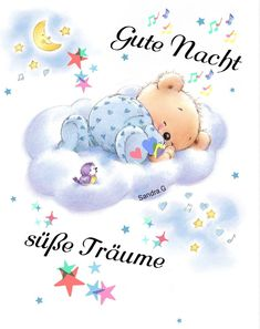 Beste gute nacht geschichte Tatty Teddy, Teddy Bear, Good Night Sweet Dreams, Angel Pictures, Good Night Quotes, Good Morning, Animals, Charles Spaniel, King Charles