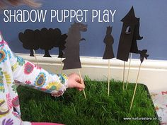 "{How to make shadow puppets} ""Puppets are also a wonderful way for children to work out real-life relationships and develop their language – and so much fun to make!"" #Puppets #CampSunnyPatch"