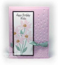 Birthday Card SU Avant Garden stamp set - from stamperdog.com
