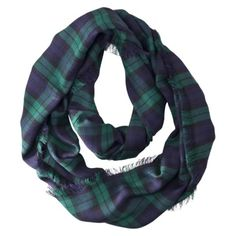 Mossimo Plaid Infinity scarf - Forest Ridge colors