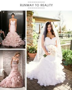 cc967e043dff1 From runway to real wedding, see this stunning fit and flare wedding dress,  and