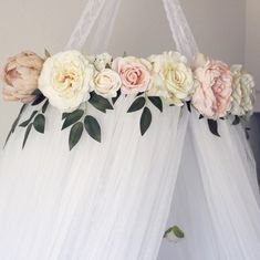 Crib canopy Crib mobile Floral crib canopy Floral crib mobile Floral nursery Nursery decor Shabby chic nursery Boho nursery Bohemian nursery Pink nursery Whimsical nursery Baby girl Baby girl nursery Nursery inspo Nursery ideas Nursery decor Roses Crib crown Bed canopy Teepee Floral teepee Reading nook Crib