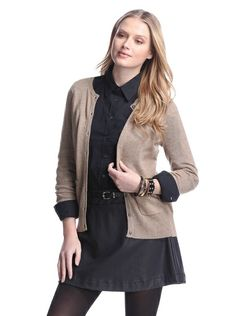 Cashmere Addiction Women's Pocket Cashmere Cardigan. Good color combo