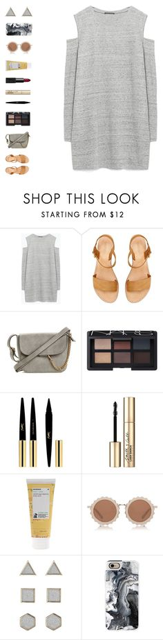 """""""joy to the world"""" by ouchm4rvel ❤ liked on Polyvore featuring Zara, NARS Cosmetics, Yves Saint Laurent, Smith & Cult, Korres, House of Holland, Topshop and Casetify"""