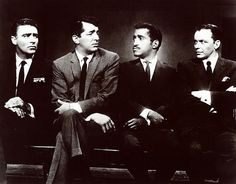 Peter Lawford, Dean Martin, Sammy Davis Jr. and Frank Sinatra, what a line-up!