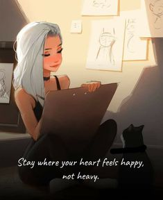 Cute Images With Quotes, Life Quotes Pictures, Cute Quotes, Tough Girl Quotes, Girly Quotes, Disney Quotes, Cartoon Quotes, Cartoon Art, Dear Self Quotes
