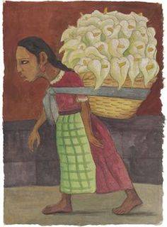 'Flowers for the Market' (1948) by Diego Rivera