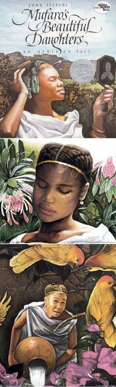 Mufaro's Beautiful Daughters - love the #naturalhair artwork!
