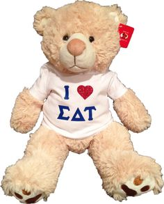 Large Sigma Delta Tau Sorority Teddy Bear