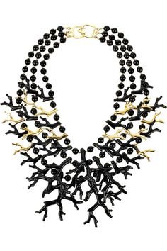 Kenneth Jay Lane Gold And Coral Bib Necklace Pink 5feYB4l