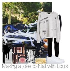 """Making A Joke To Niall With Louis"" by hazzgirl03 ❤ liked on Polyvore featuring beauty, Miss Selfridge, MANGO, NIKE, Casetify, Dot & Bo, Charlotte Tilbury, Charlotte Russe and Topshop"