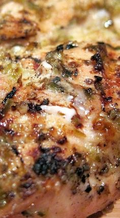 Jalapeno Lemon Grilled Chicken - chicken marinated in fresh jalapenos, lemon juice, oregano, olive oil and garlic.