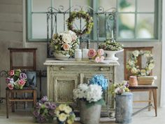 miniature* Flower と、小学二年生の自由研究 : natural色の生活~handmade家具