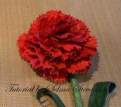 Selma's Stamping Corner and Floral Designs: Carnation Tutorial