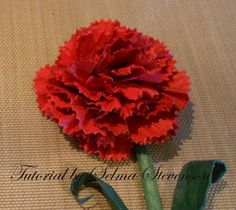 Carnation floral design, paper flower