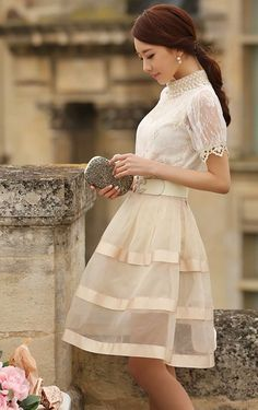 ASIAN STREET FASHION: How to look amazing in long skirts and dresses