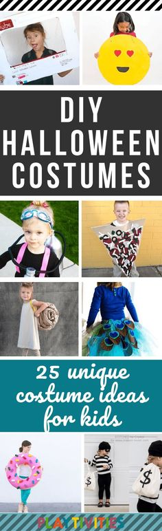 Every year when Halloween is approaching I start to think about easy low-cost yet creative costumes for my kids.So here it is I gathered 25 DIY HALLOWEEN COSTUMES for kids that require minimal preparation and wont cost you a dime. Most Creative Halloween Costumes, Unique Costumes, Diy Halloween Costumes For Kids, Easy Costumes, Easy Halloween, Halloween Crafts, Costumes Kids, Unicorn Halloween Costume, Minimal
