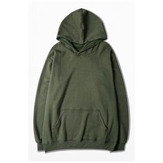 Oversized Unisex Hooded Plain Long Sleeve Hoodie Sweatshirt with One... ($40) ❤ liked on Polyvore featuring tops, hoodies, kangaroo pocket hoodie, hooded pullover, cotton hooded sweatshirt, sweatshirt hoodies and long tops
