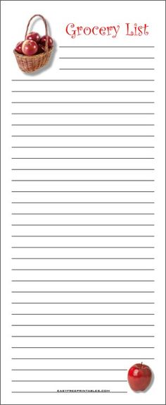 Free Printable Grocery Shopping List Shopping lists, Free - grocery retail sample resume