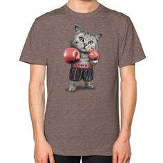 BOXING CAT Unisex T-Shirt (on man)