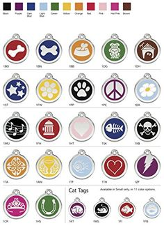 Red Dingo Stainless Steel with Enamel Pet I.D. Tag (Medium) by K9 Palace -- Learn more @
