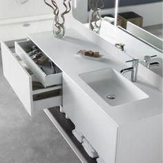 Waschtisch aus Corian mit waschuntertisch