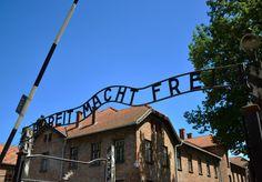 """""""Arbeit macht frei"""" Taken at Auschwitz"""