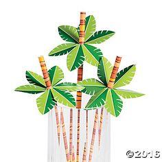 Palm Tree Paper Straws