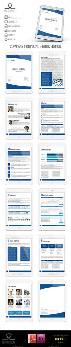 E-Proposal Design Proposals, Indesign templates and Business flyers - business proposal template free download