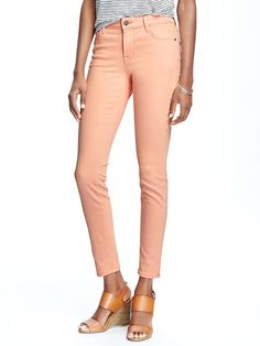 e0b57d4bc1c9 Mid-Rise Rockstar Skinny Jeans for Women Colored Jeans