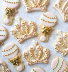 Elegant Pink & Gold Baby Princess Set -Rattle and Crown - One Dozen Decorated Sugar Cookies by thesweetesttiers on Etsy https://www.etsy.com/listing/462356242/elegant-pink-gold-baby-princess-set