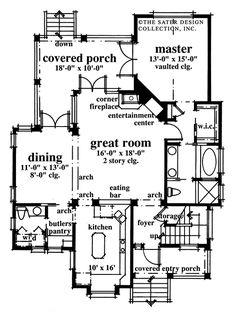 Mascord House Plan A   House plans  Home Design and HouseThe Periwinkle Way House Plans First Floor Plan   House Plans by Designs Direct  Plan