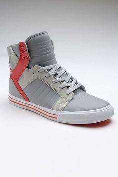 Supra Skytop Sneakers - Grey / Orange