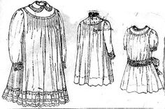 5 year old girls' tucked or gathered dress, Butterick- 1900