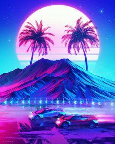 vaporwave art All Synthwave retro and r - vaporwave Cyberpunk Aesthetic, Neon Aesthetic, Night Aesthetic, Wallpaper Animes, Retro Wallpaper, Wallpaper Wallpapers, New Retro Wave, Retro Waves, 1366x768 Wallpaper Hd