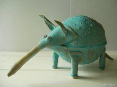 Quirky ceramic animal by wiktorskiceramics on Etsy