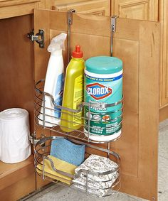 Chrome Two-Tier Over-the-Cabinet Organizer #zulily #zulilyfinds