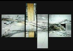 Orage metallique Art abstract paintings  Peinture contemporaine abstraite