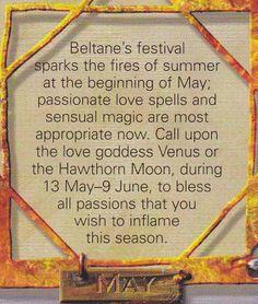 Magick Spells:  #Correspondences ~ May.