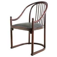 Bentwood Armchair With New Leather Upholstery