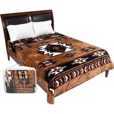 wyndham house brown native american print blanketadd a little south west flavor
