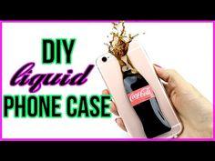 DIY Liquid Soda Phone Case! - YouTube