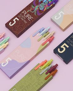 Ink Color, Colour Black, Thai Tea, Vibrant Colors, Colours, Silver Lining, Pen Sets, Something Beautiful, Gel Pens