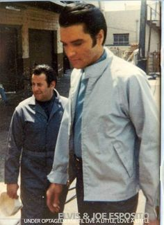 """Elvis and Joe (on set of """"live a little, love a little)"""