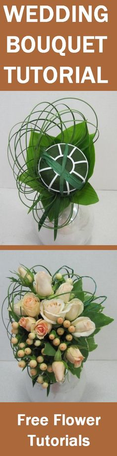 Bridesmaid Bouquets Tutorial - Easy and Free Step Flower Tutorials Learn how to make bridal bouquets, wedding corsages, groom boutonnieres, church decorations and reception centerpieces. Buy wholesale flowers and discount florist supplies
