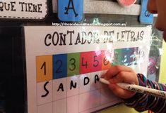Rincón de una maestra: La palabra del día 3 Year Old Activities, 3 Year Olds, Beginning Of School, Ideas Para, Literacy, Alphabet, Kindergarten, Crafts For Kids, Classroom